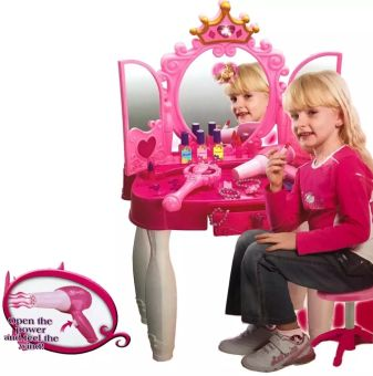 Little Princess Mirror Dressing Table With Remote Control.