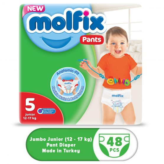 Molflix Pant Diaper Jumbo Junior (12-17 Kg) – 48 Pcs