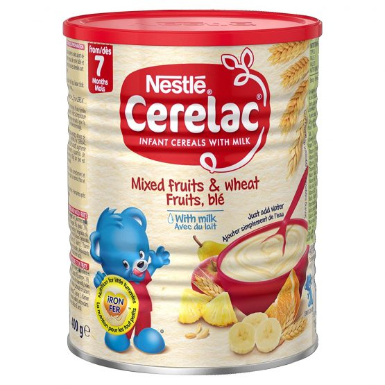 Cerelac Mixed Fruits & Wheat Fruits, ble With Milk (From 7 Month) – 400g