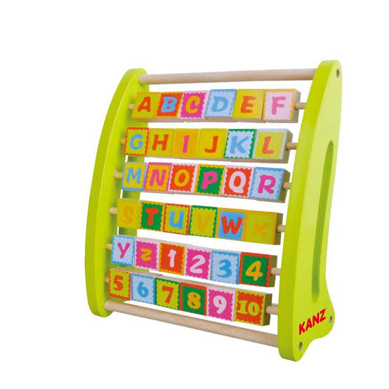 Wooden Alphabet and Number Abucus for Kids