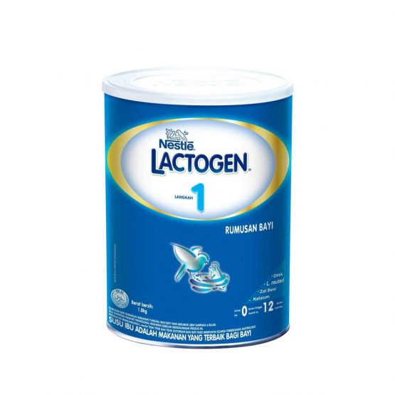 LACTOGEN 1 TIN 1800 gm 0-12 month (Malaysia)
