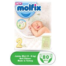 Molflix Belt Diaper Jumbo Mini (3-6 kg) – 80pcs