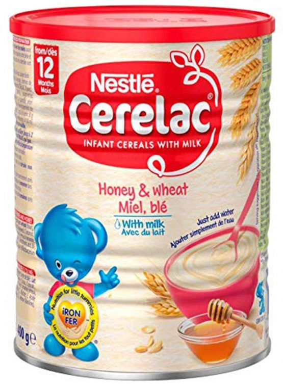Nestle Cerelac Honey & amp; Wheat Miel, ble With Milk (From 12 Month) – 400g