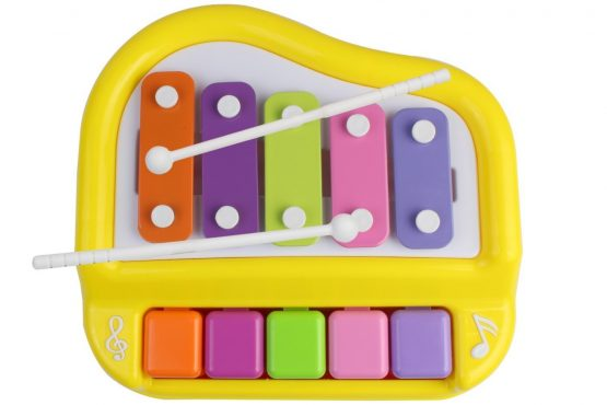 Instrument 5 Key Striking Organ And Xylophone Musical Toy With 2 Mallets For Kids