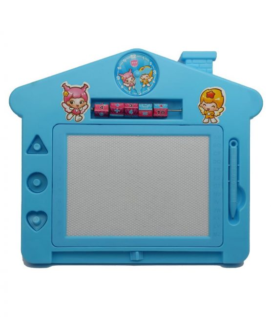 Educational Writing/Drawing Board with Magic Slate, Abacus Game, Different Shapes & 1 Pen for Kids