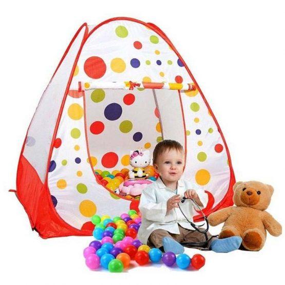 Ball print tent house big with 100 pcs balls