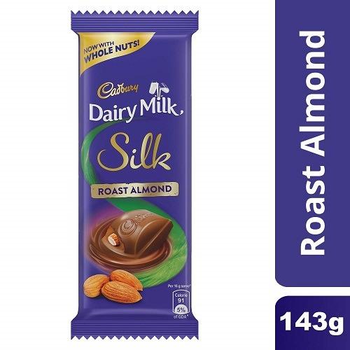 Cadbury Dairy Milk Silk Whole Nuts Roast Almond Chocolate 143g