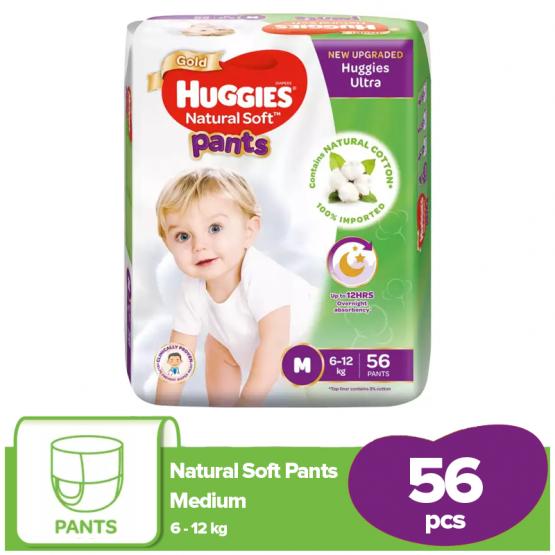 Huggies Ultra Pant Diaper Medium (M) 56 Pcs (6 – 12 Kg)