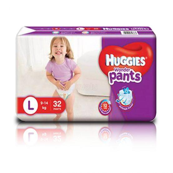Huggies_Wonder Pants (Bubble Bed) L – 32 pcs (9-14 Kg)