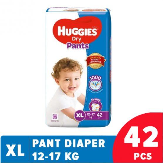 Dry Pant Diaper (XL) Extra Large-42 Pcs (12-17 KG)