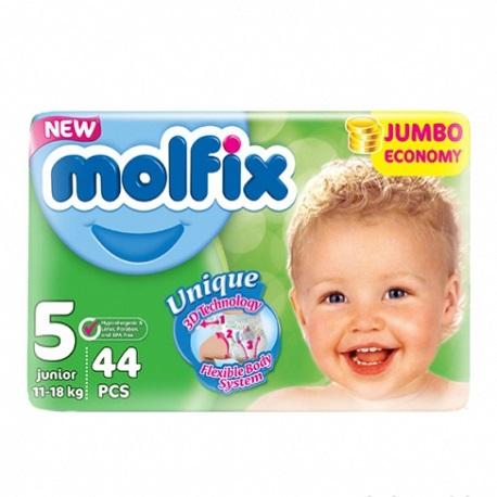 Molflix Belt Diaper Jumbo Junior (11-18 kg) – 44 Pcs