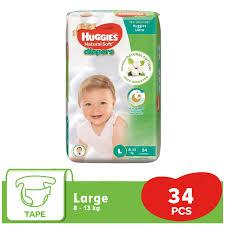 Huggies Ultra Belt Diaper Large (L) 34 Pcs (8-13 Kg)