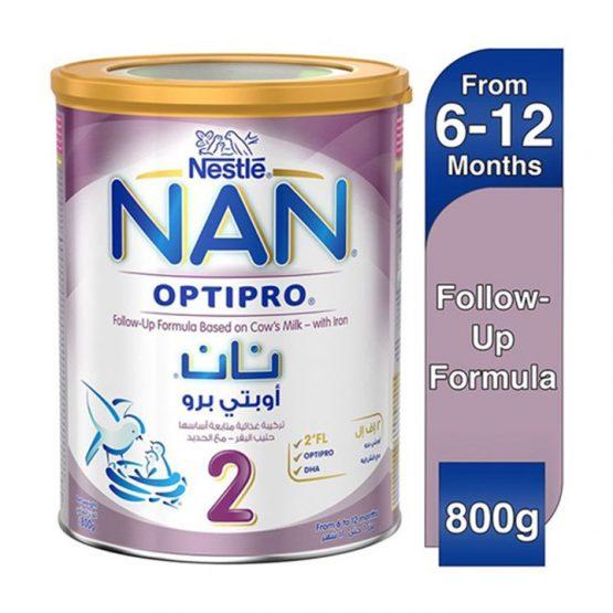 Nan 2 Milk powder 800 gm Tin 6-12 months (Dubai)