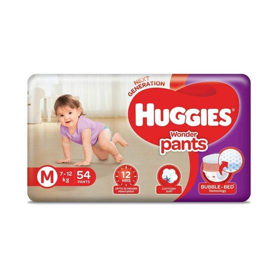 Huggies_Wonder Pants (Bubble Bed) M – 54 pcs (7-12 Kg)