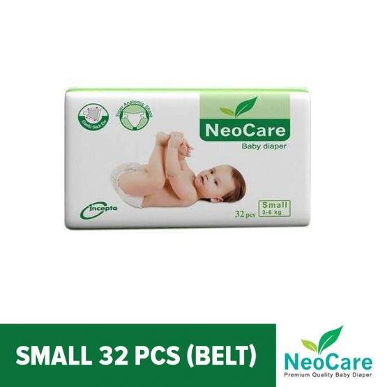Neocare Belt System Baby Diaper S (3-6 kg) – 32pcs