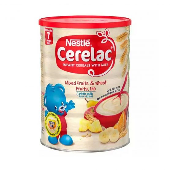 Cerelac Mixed Fruits & Wheat Fruits, ble With Milk (From 7 Month) – 1kg