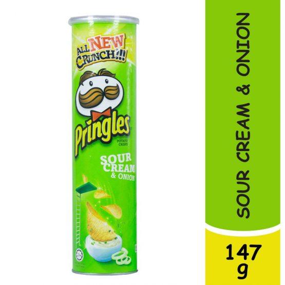 Pringles Sour Cream & Onion Potato Chips 147g