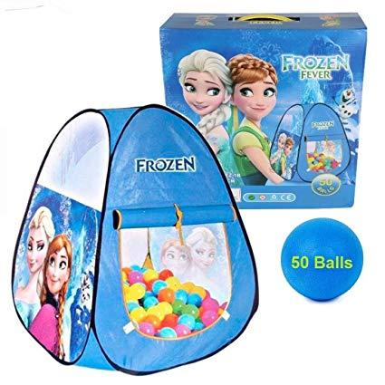 Frozen Baby Tent House For Kids With 50 Balls