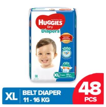 Huggies Dry Belt Diaper Extra Large (XL)-48 Pcs (11-16 Kg)