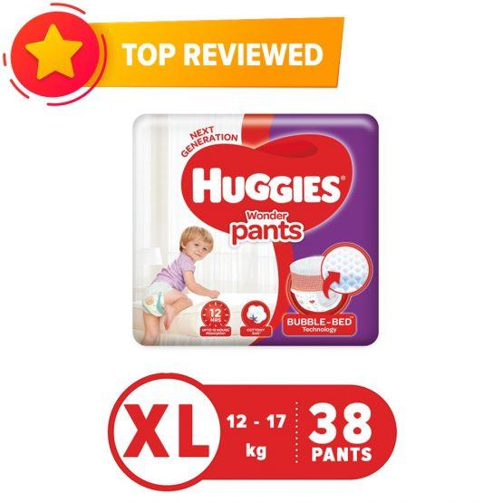 Huggies Wonderpant Extra Large (12-17Kg) – 38Pcs