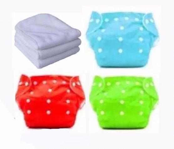 Reusable Baby Cloth Daiper -(3 kg to 15 kg) -3 pcs Daiper with 3 pcs Cloth