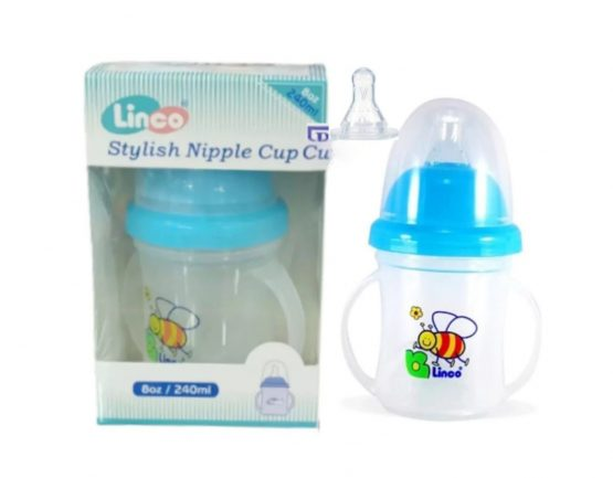 Linco Water pot With 2 different Nipples (6 months+)- 240ml (Thailand)