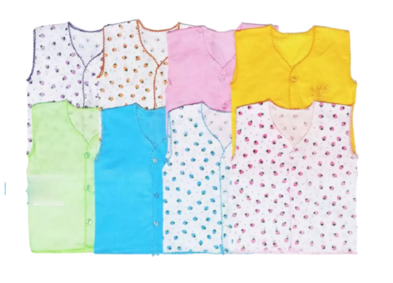 8 pcs Nima For Baby (9X11 inch)-Multicolor (0-5 months)