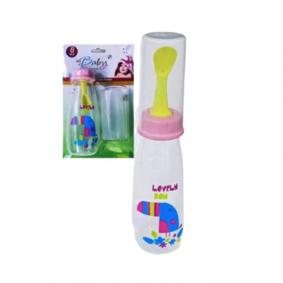 Baby Weaning Bottle with Spoon 240ml