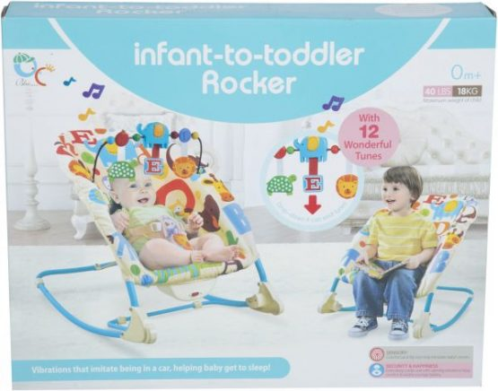 Baby Rocker Chair With Hanging Toys and Vibration-68124