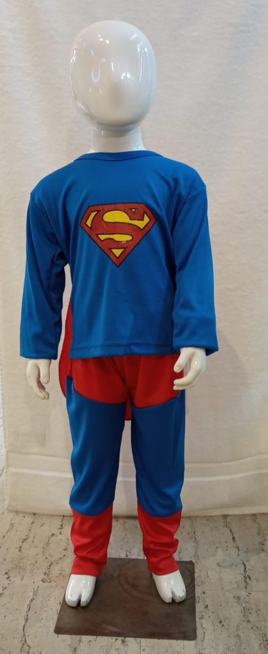 Superman Costume Dress Full Set-Red & Blue