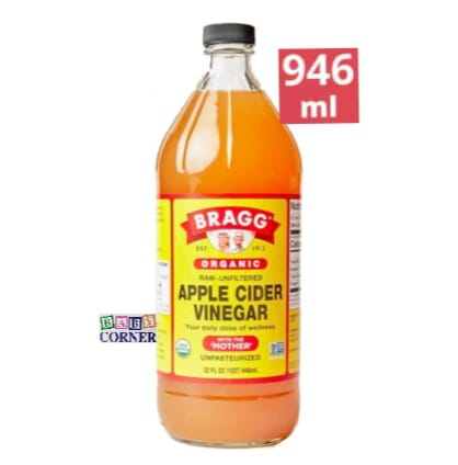 Organic Apple Cider Vinegar With The Mother (Unpasteurized)-946 ml(USA)