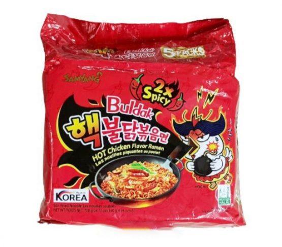Samyang 2x Spicy HOT Chicken Flavour Ramen 5 in 1 Pack (Korea)