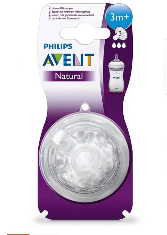 Phillips Avent Natural Teat 3+month