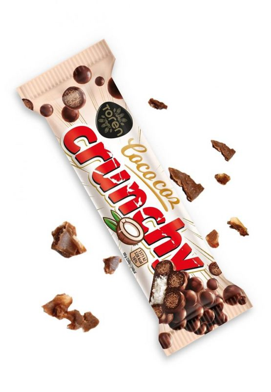 Toren Cococoz Crunchy Coconutbar with Milky Compound Crispied rice white Chocolate-32g