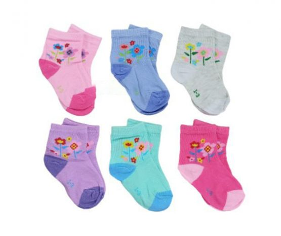 Baby cotton socks 6 pair(0-6 Months) multicolor