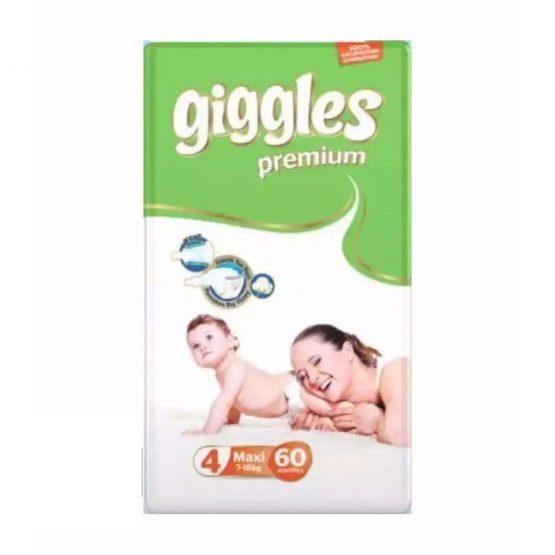 Giggles Premium Extra Absorbent Baby Diaper Size 4 jumbo pack belt (7-18 kg):60 pcs (Turkey)