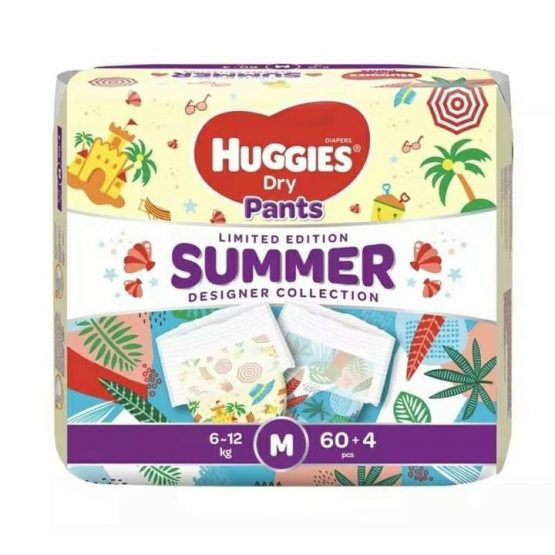 Huggies Dry Pants Summer Limited Edition (M) Pant Diaper (6-12Kg) – 64 Pcs (Malaysia)