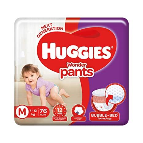 Huggies Wonderpant Medium (7-12Kg) – 76Pcs