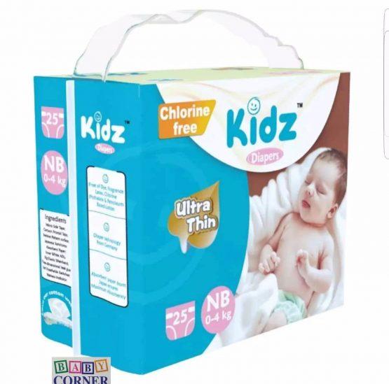 Kidz Diaper Newborn (0-4 kg) -25 pcs