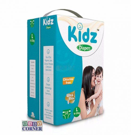 Kidz Diaper Belt L size(9-13kg) -58 pcs