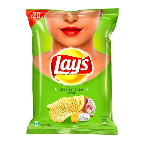 Lay's Potato Chips – Calm Cream & Onion Flavour 52g