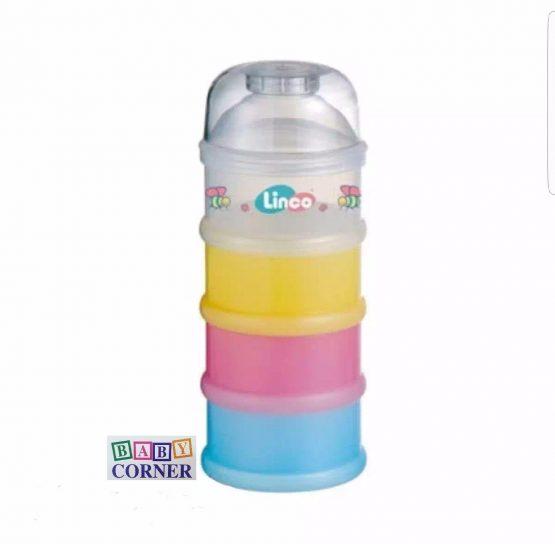 Linco 4 stackable Milk Powder Container-Multicolor