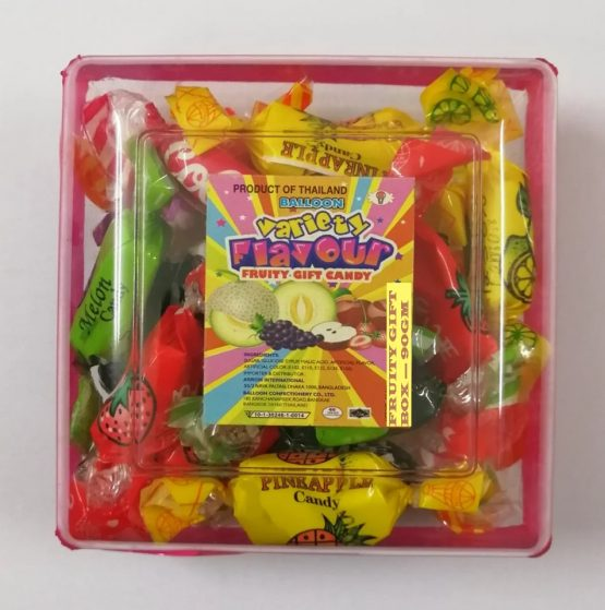 Balloon Fruity Candy Square Gift Box-90g