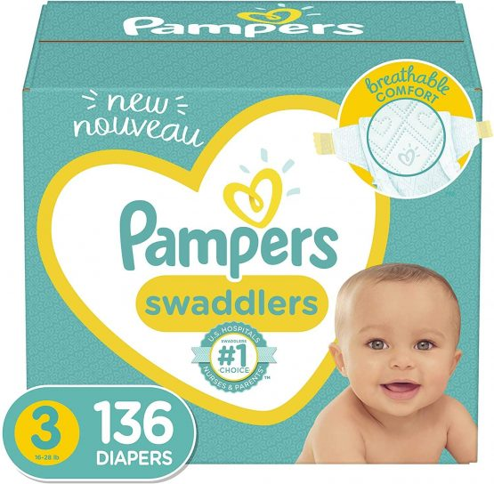 Pampers Baby Diaper Belt Size 3, 136 Pcs
