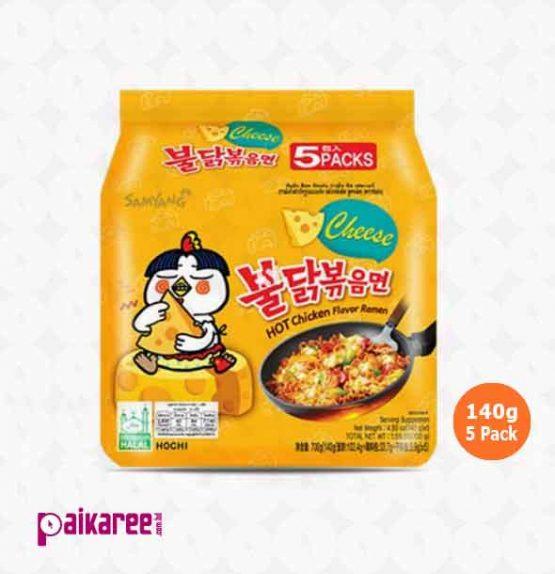 Samyang Hot Chicken Ramen Cheese Noodles 5 Pack- 140g (Korea)