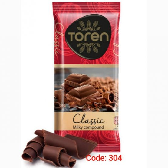Toren Classic Milky Compound Chocolate with lovely tasty Chocolate-(Red Pack) (Turkey) 52g