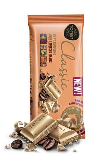 Toren Classic Milky Compound Espresso Chocolate with lovely tasty Chocolate (Turkey) 52g