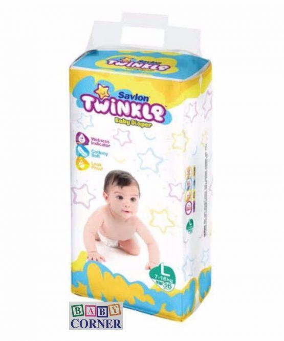 Twinkle – Baby Diaper Belt L (7-18kg)-36 pcs