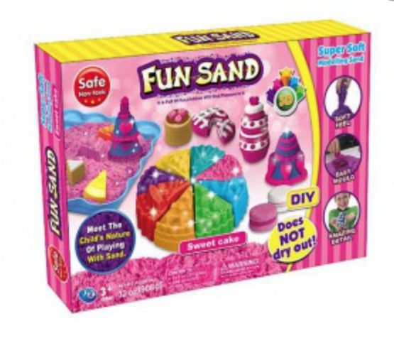 Birthday Cake Set Children's Fun Sand